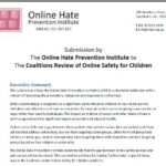 OHPI Submission to the Coalitions Review of Online Safety for Children