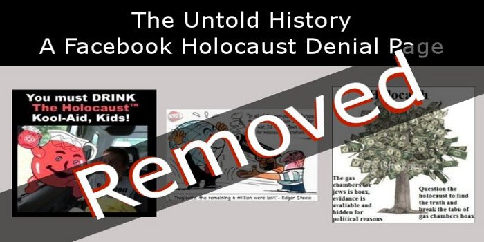 Holocaust Denial Page Finally Removed
