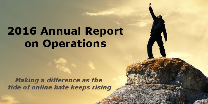 2016 Annual Report on Operations