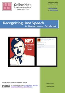 Recognizing Hate Speech: Antisemitism On Facebook