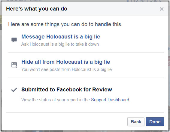 How to Report a Facebook Image | DoNotHate org