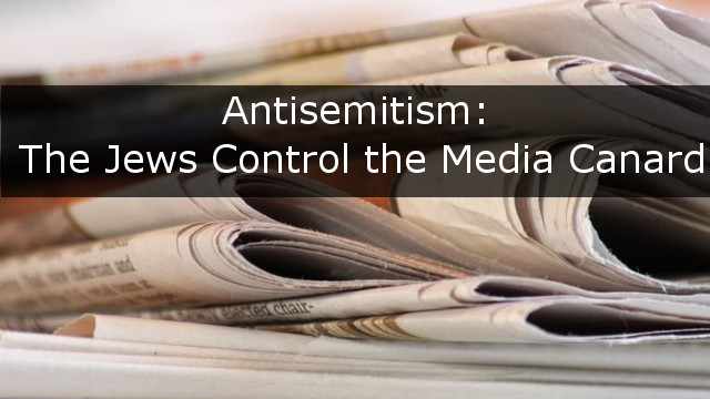 antisemitism Jews media - cover