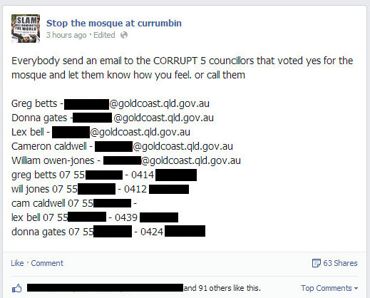The Councillors being targeted (2)