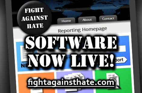 Software now live! fightagainsthate.com