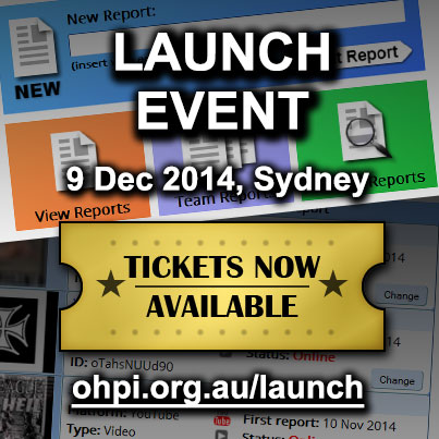 Launch Event, Sydney, Tickets now available