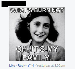 Anne Frank antisemitic meme