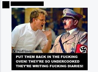 Antisemitic Gordon Ramsey meme
