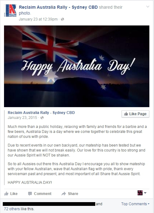 reclaim Australia on australia Day