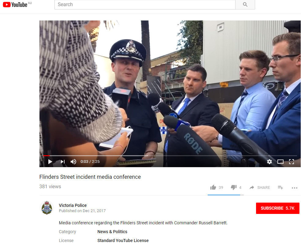 """cd0f16253bc At 8 04pm on Facebook the Victoria Police moderator posted a reply to each  of their posts saying """"We welcome comments from our Facebook community but  will ..."""