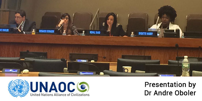 OHPI presentation at the United Nations Alliance of Civilizations (UNAOC) conference on hate speech